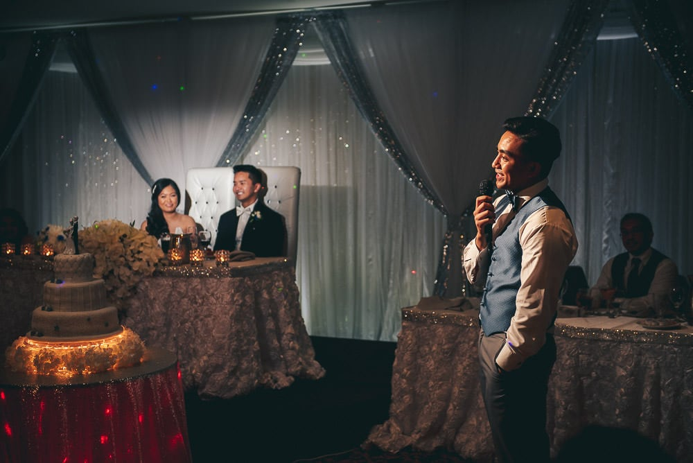 speeches at brookside banquet centre wedding in London Ontario