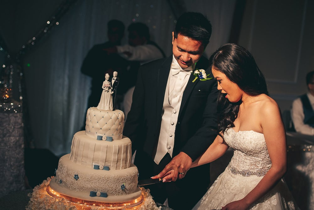 cutting the cake at brookside banquet centre in London Ontario