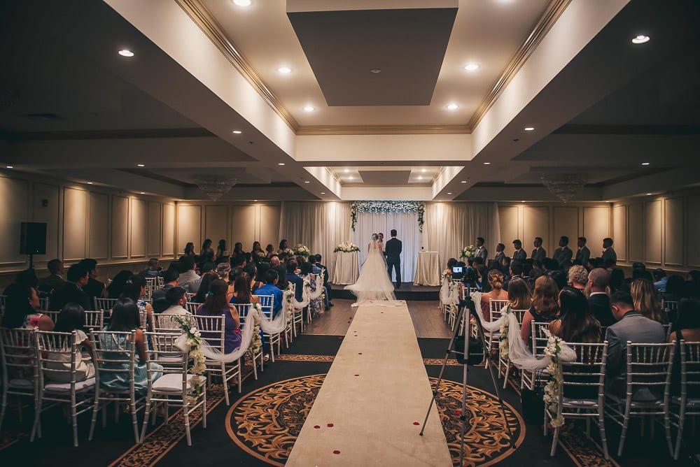 Wedding ceremony at brookside banquet centre