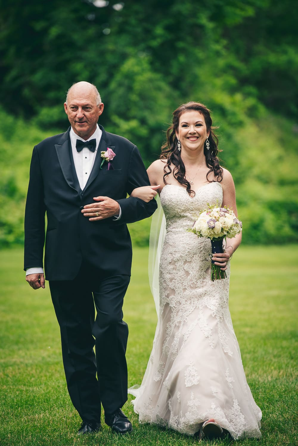 step dad walking daughter down the aisle