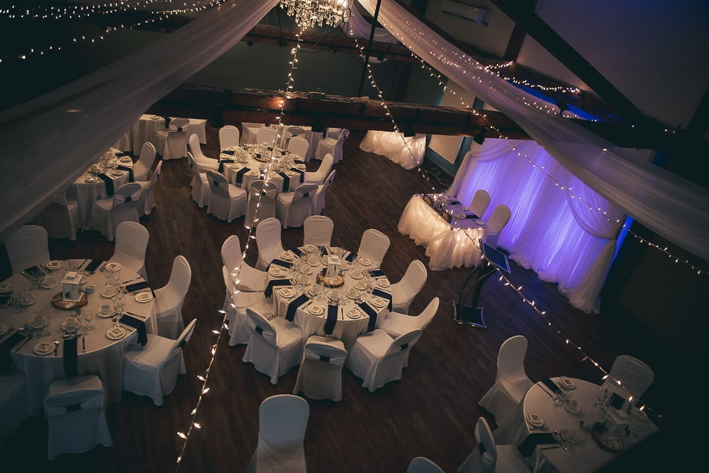 overview of the elmhurst inn wedding in the carriage house