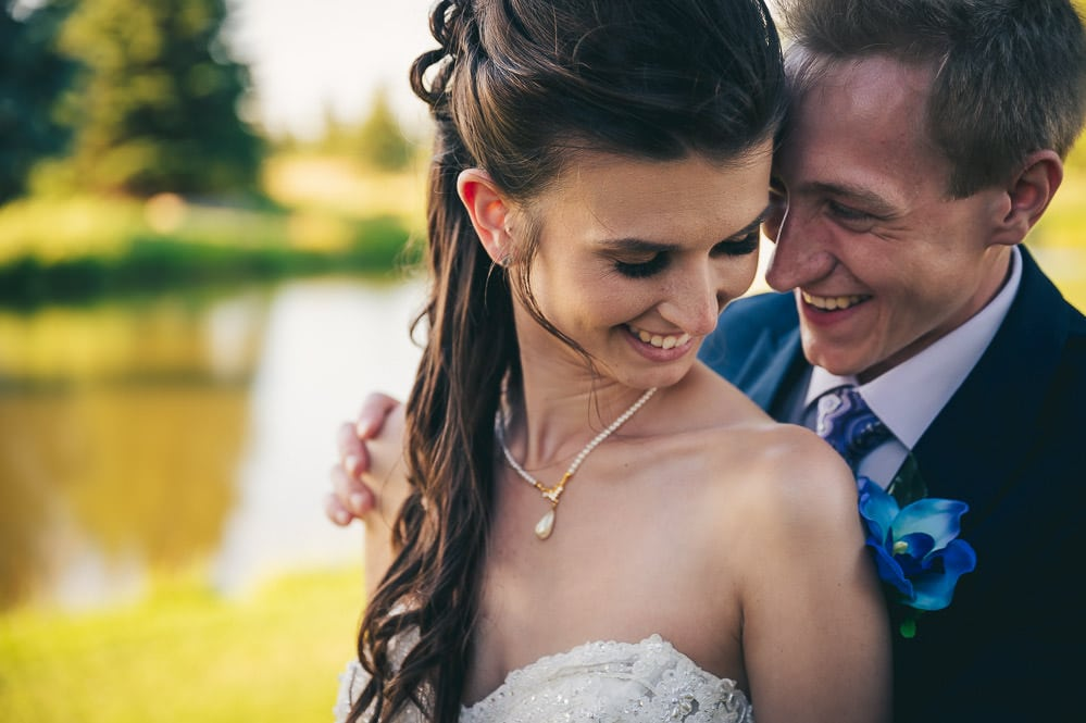 close up photo of bride and groom