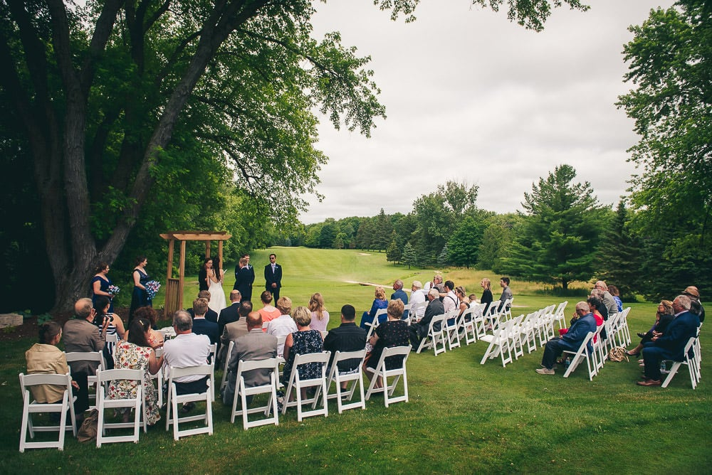 wedding ceremony on Mitchell Golf course