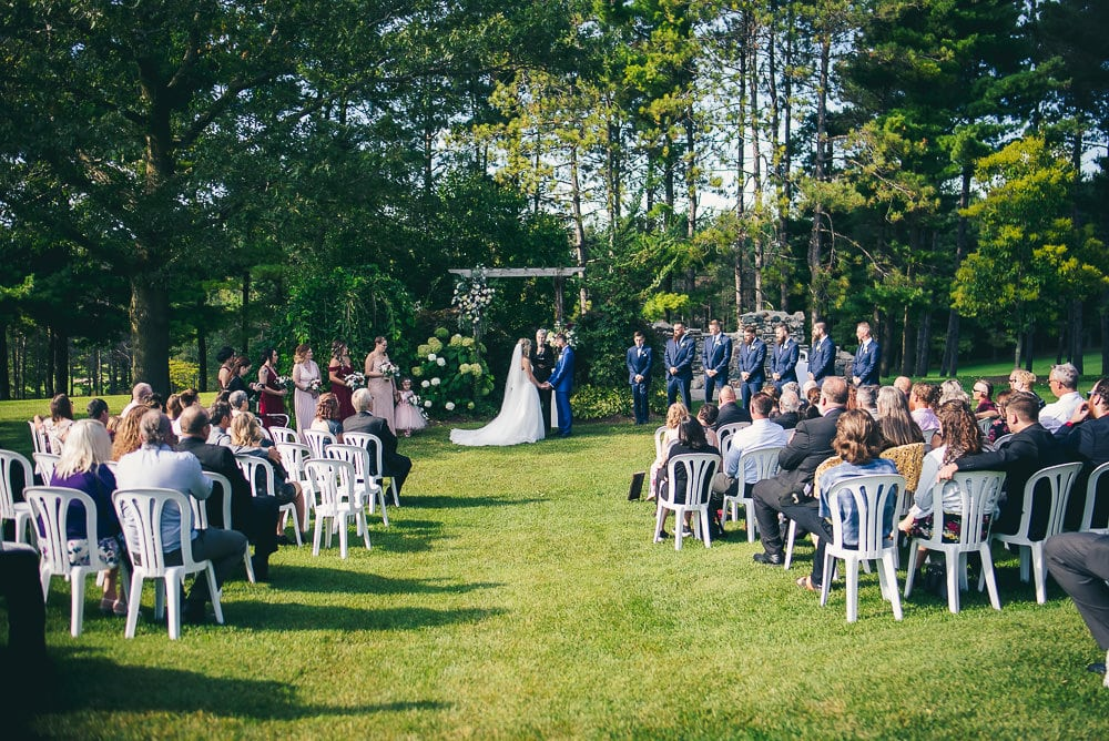 wedding ceremony at craigowan golf club