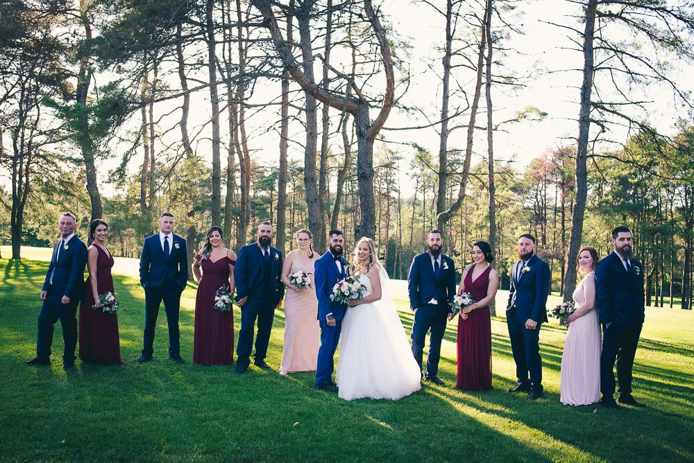 wedding party photo at craigowan golf club