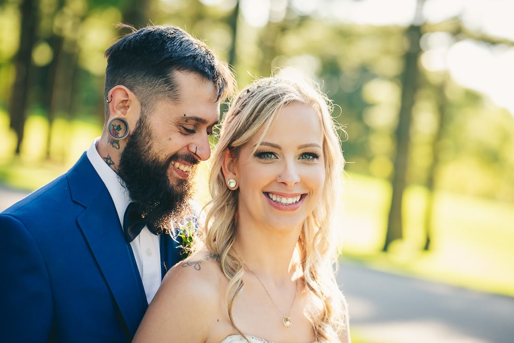 Courtney and nick photo at craigowan golf club wedding in Woodstock Ontario