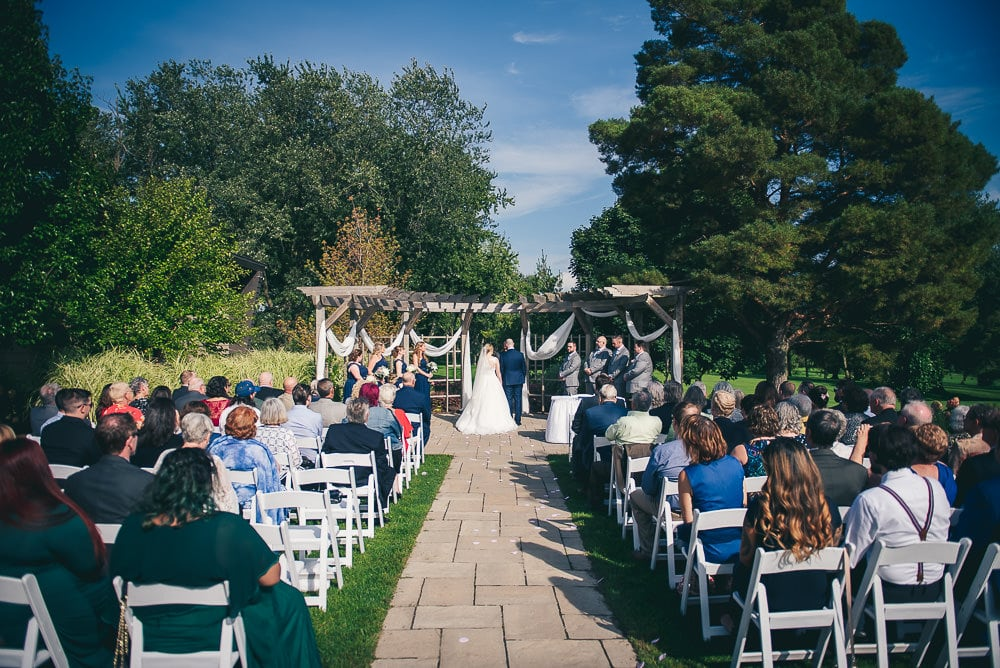wedding ceremony at the Stratford country club