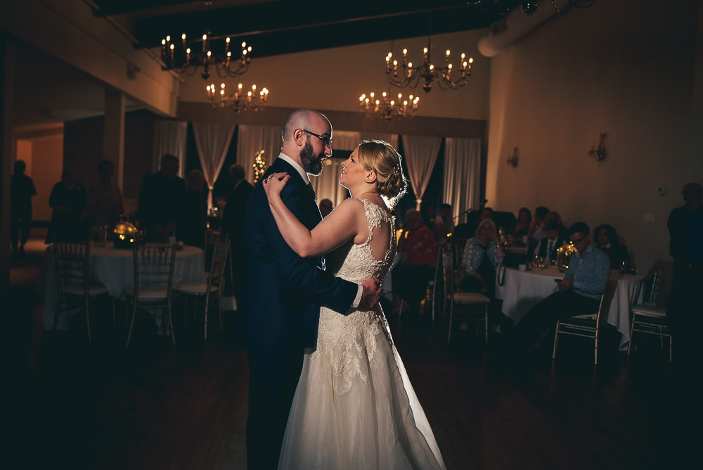 bride and grooms first dance at the Stratford country club