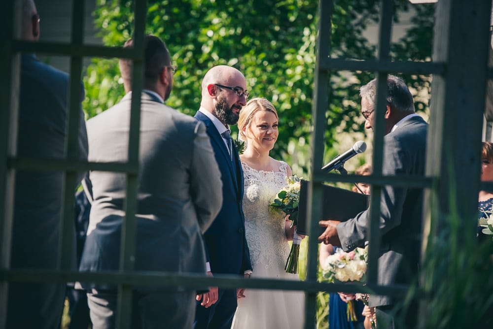 bride and groom photo during Stratford country club wedding