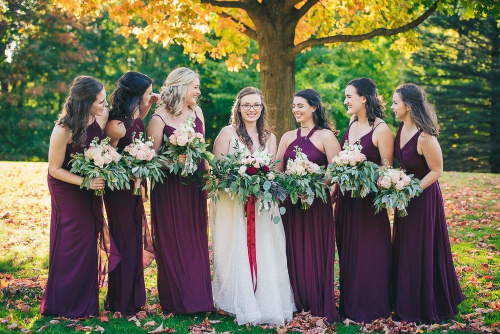 bridesmaids photo at elsie Perrin wedding