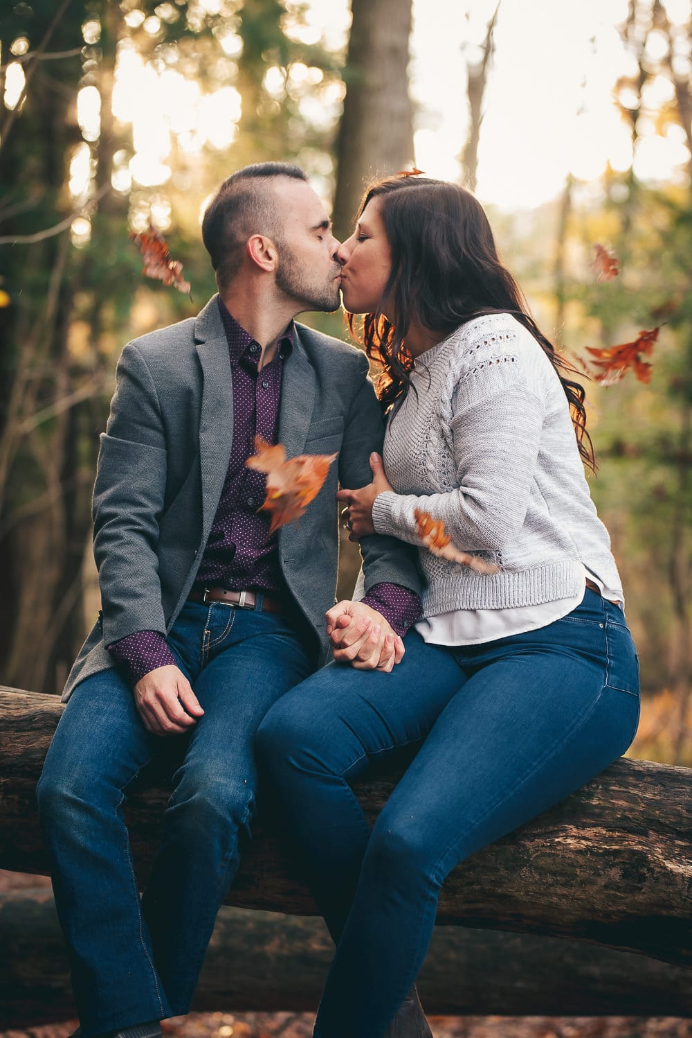 fall engagement photo in London ontario
