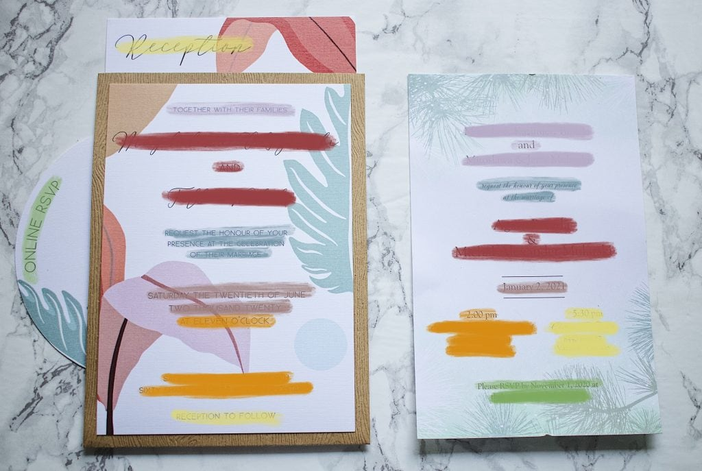 Wedding invitations - multiple cards vs one single card